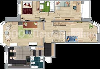 Перепланировка квартир в домах серии П44