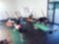 yoga pose, yoga mat