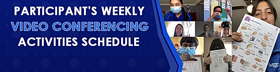 video conferencing activities banner for