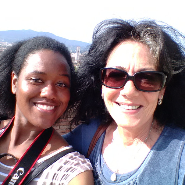 Dea Jenkins and me in Florence.