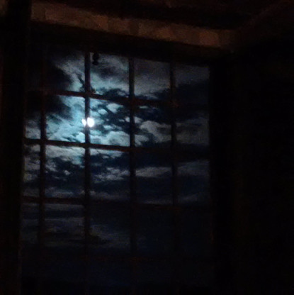Full moon as seen from the studio window June 2016.