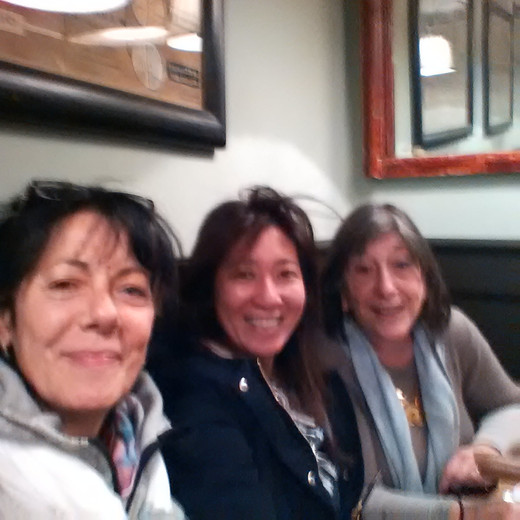 Me on the left, Josephine Turalba in the middle and Ellen Coffey on the right. In Panzano for medieval festival in April 2016.