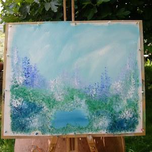 Blue  Garden - Sold