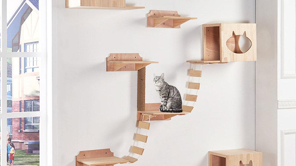 Cat Bridge Climbing Frame Wood Tree House