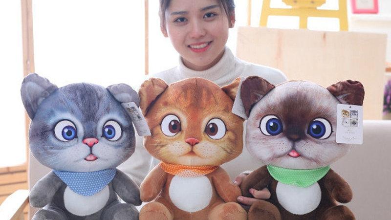 Disney Cartoon Dolls  Cushion Mini Cute Cat Plush Stuffed Toys  20cm