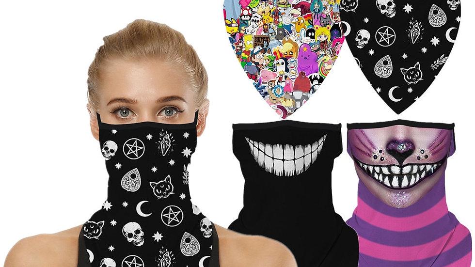 Cheshire Cat Cosplay Face Mask Neck Scarf Masks Bandana Headband