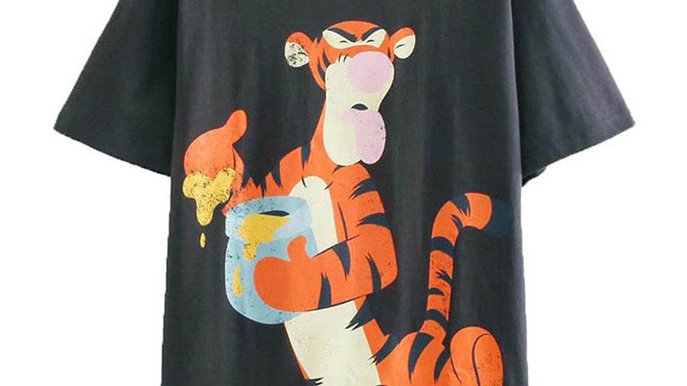 Disney T-Shirt Pooh Bear Tigger Eeyore Aristocats Cheshire Cat