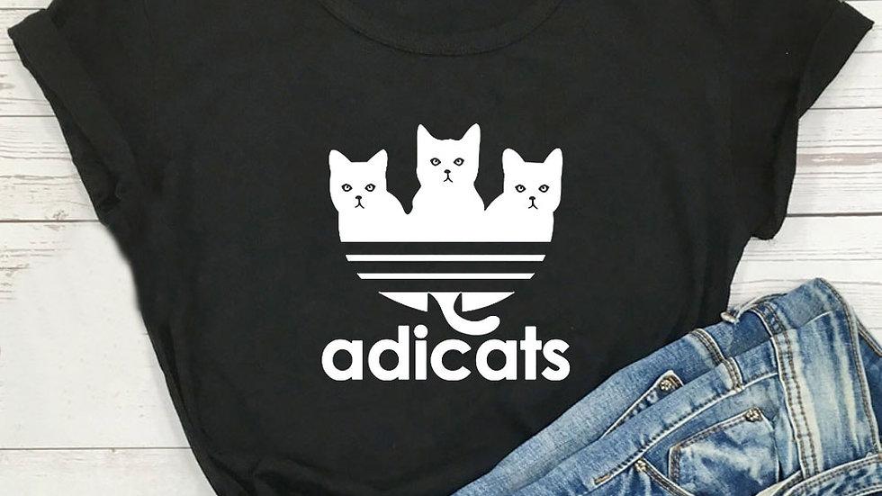Cartoon Cat Short Sleeve Kawaii T Shirt