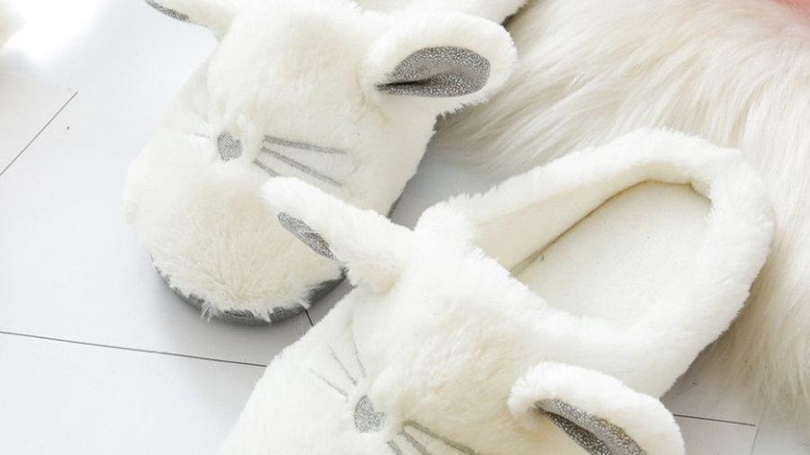 Cute Cat Slippers Soft Plush