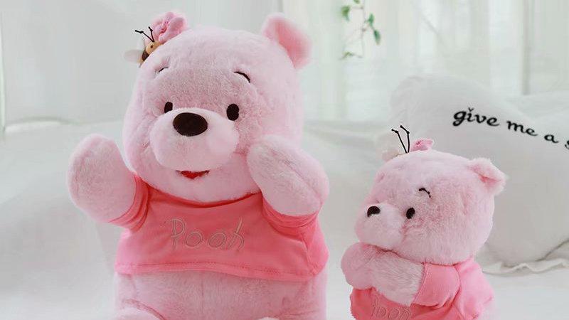28-48cm Pink Winnie the Pooh Plush Toys Soft