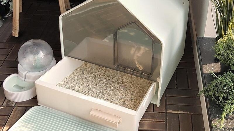 Fully Enclosed Cat Litter Box Drawer