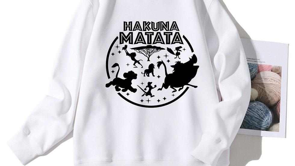 Disney Sweatshirt HAKUNA MATATA the Lion King Personalise Long Sleeve