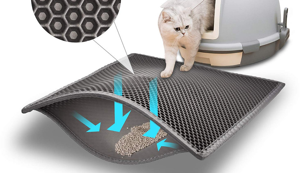 Waterproof Pet Cat Litter Mat Double Layer