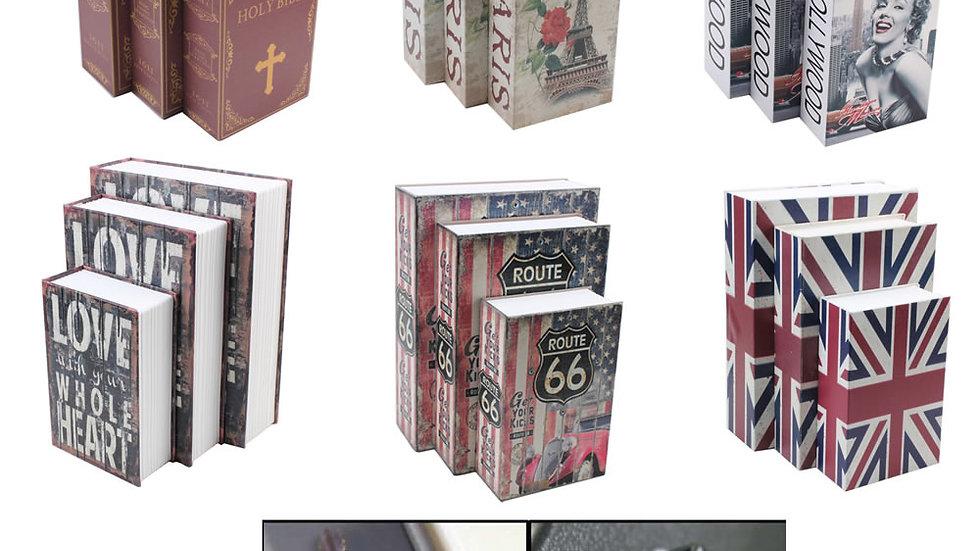 Creative Money Box Simulation Book Key Lock  118*115*55 Mm