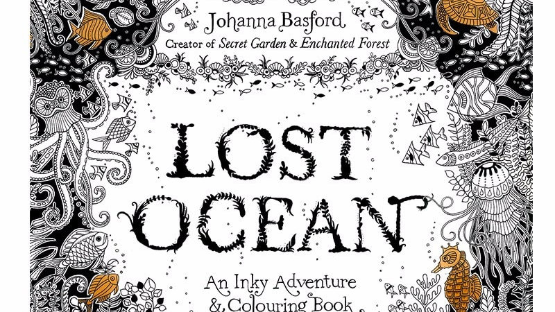 24 Pages Lost Ocean Antistress Colouring Book