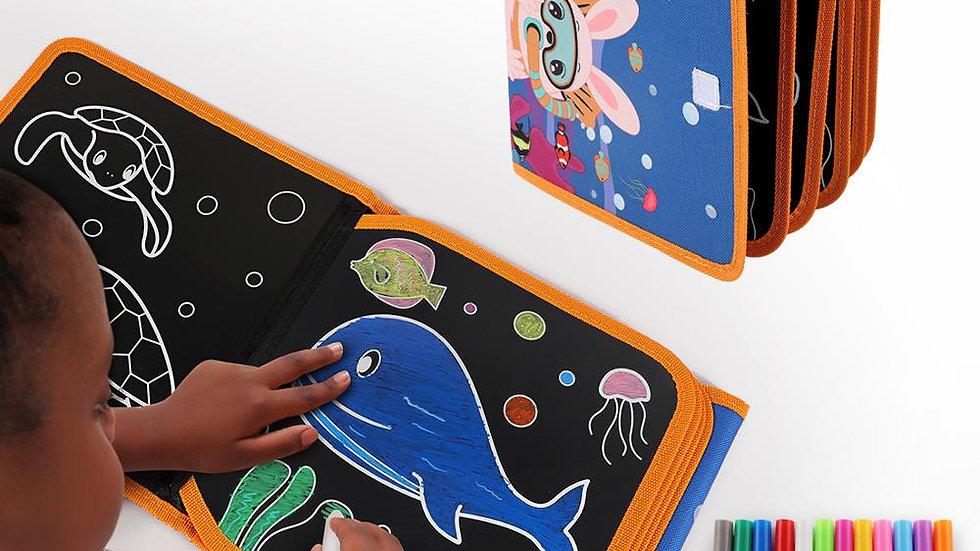 Drawing Board Book Colouring Books for Kids Drawing Board  With Water Pen