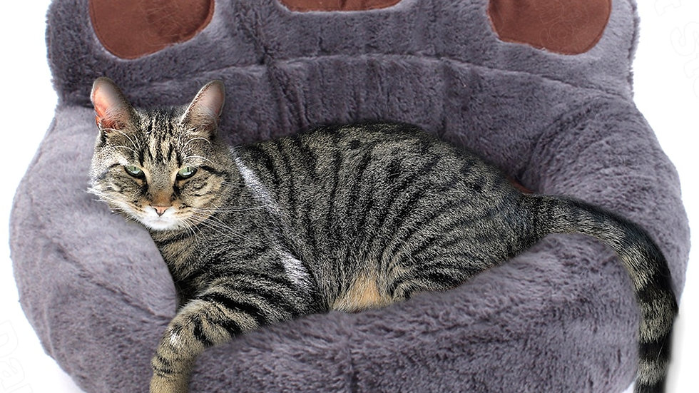 Pet Cat Bed House Winter Warm Plush Lounger