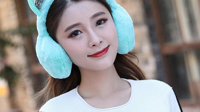 Cat Ear Earmuffs Fur Warm Ear Protect Cute Faux Soft Fluffy