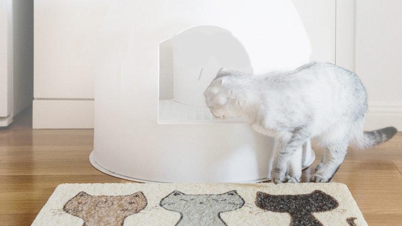 Pet Cat Toilet Mat PVC Waterproof Non-Slip