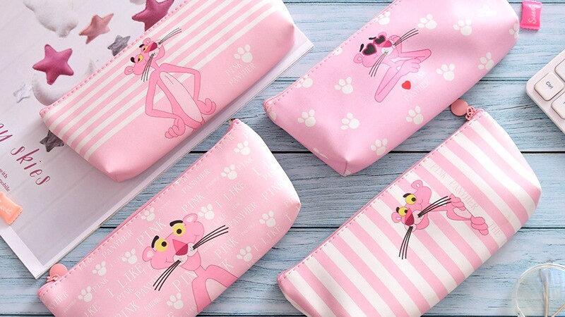 Kawaii Pink Panther School Pencil Cases