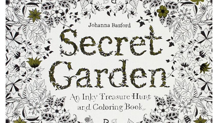 24 Pages Secret Garden Antistress Colouring Books