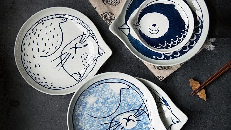 Japanese Style Ceramic Teardrop Tableware