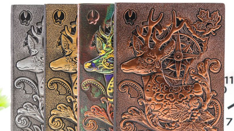 Creative Deer Embossed A5 Leather Notebook Journal Notepad Travel Diary Planner