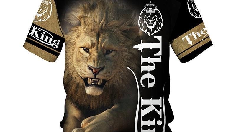 The Lion King 3D Print T-Shirt 2021 Summer New O Neck Short Sleeve