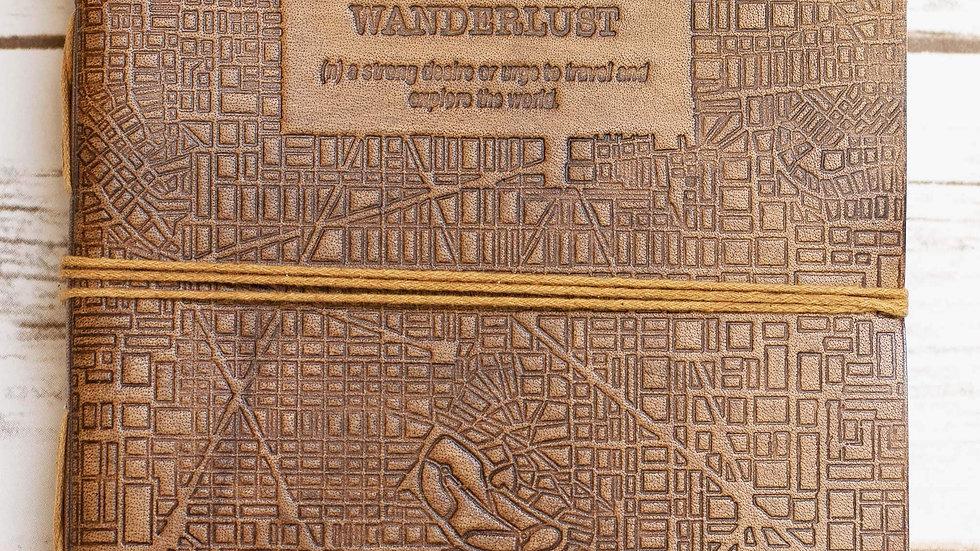 Wanderlust 7x7 Artist Handmade Leather Journal