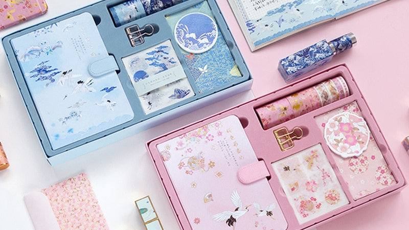 Chinese Style Portable Travel Diary Stationery Gift