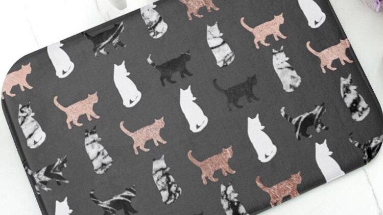 Cats Kitchen Bathroom Rubber Doormat Rug