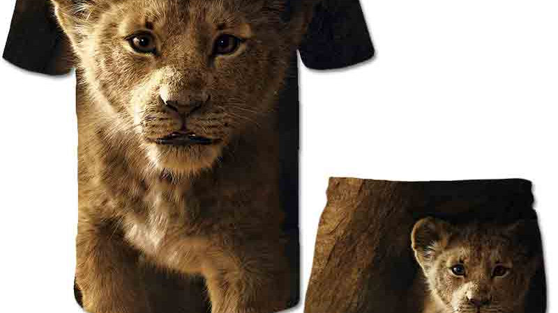 2021 Fashion Summer 3D The Lion King T-Shirts + Pants