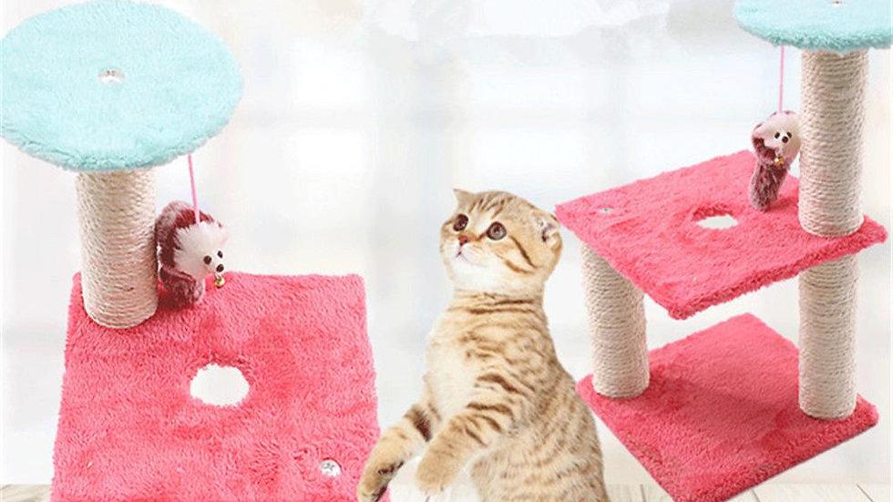 Cat Scratcher Tree Mouse Plush