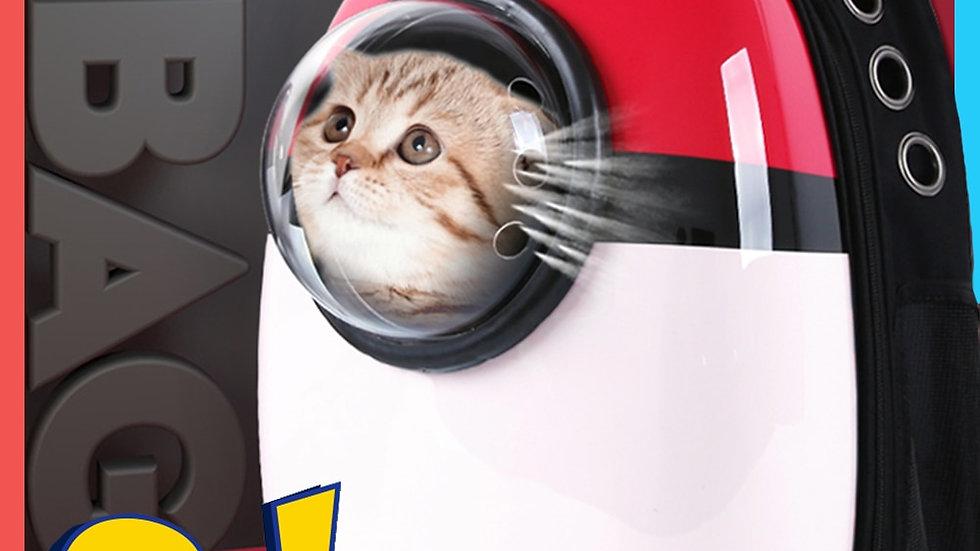 Cat Backpack Windows Carrier Space Travel Capsule Bag