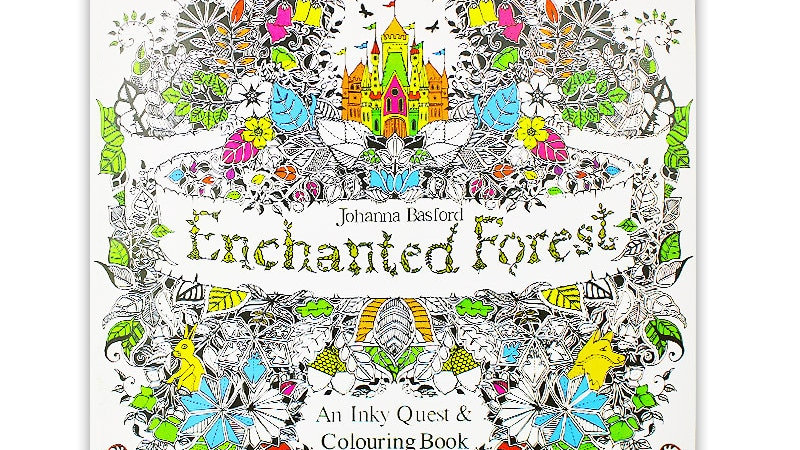 24 Pages Enchanted Forest Colouring Book