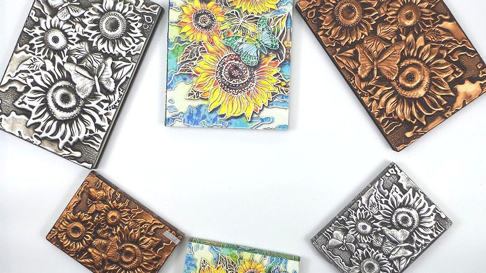 Retro Flower PU Leather Diary Notebook Journa Embossed