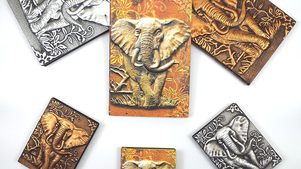 Retro Elephant PU Leather Diary Notebook Journal Embossed