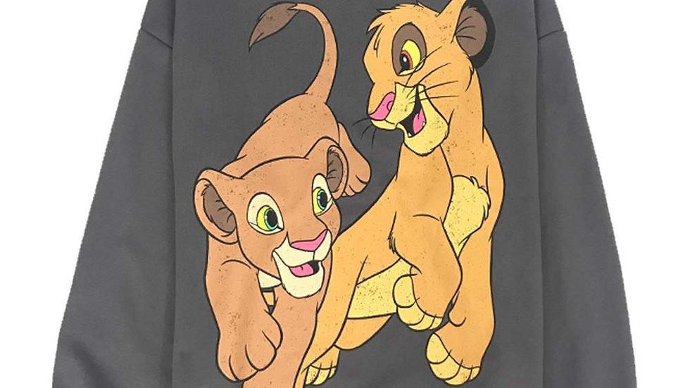 Disney The Lion King King Cartoon Print Long Sleeve Loose Tops