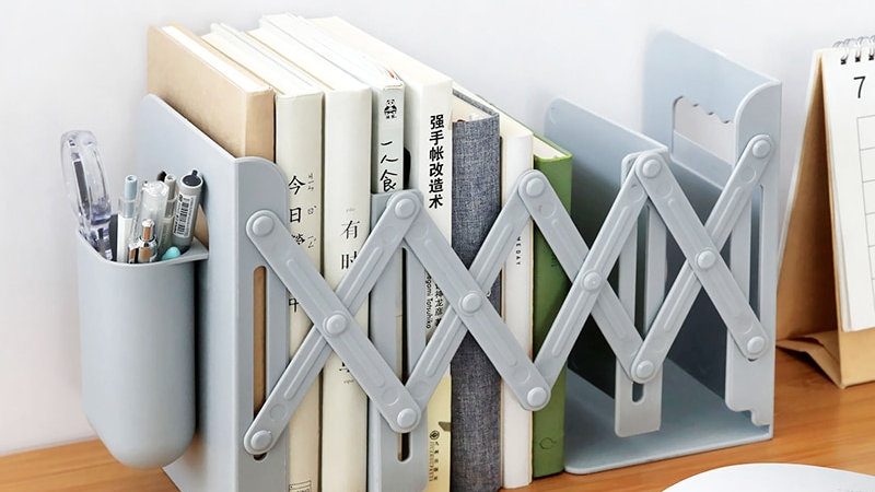 Adjustable Book Stand Rack With Pen Holder