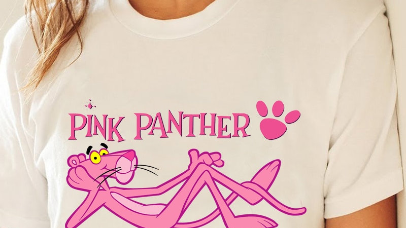 Harajuku Pink Panther T Shirt