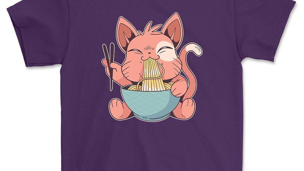 Ramen T-Shirt Cat Tshirt Kawaii Anime Tee Japanese Gift T-Shirt