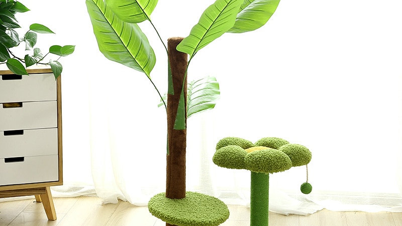 New Simulation Cat's Nest Tropical Rain Forest Scratching Post Climbing Frame