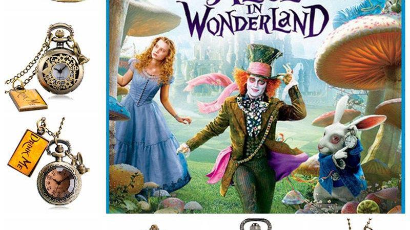 Alice in Wonderland  Drink Me Tag Quartz Pocket Watch