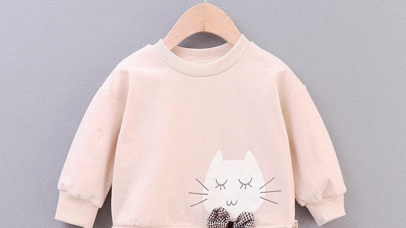 Baby Girl Cat Sweatshirt
