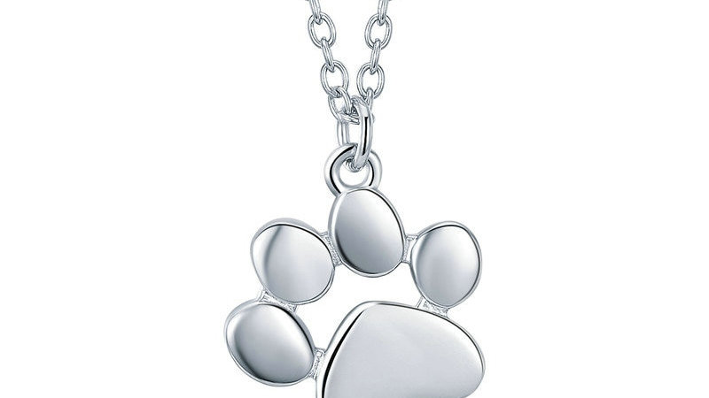 Silver & Gold Colour Cute Animal Footprints Necklaces