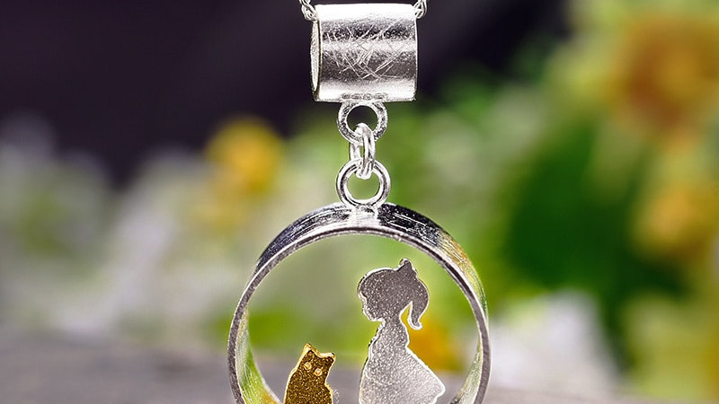 Real 925 Sterling Silver Handmade Fine Jewellery Cat Pendant Without Necklace