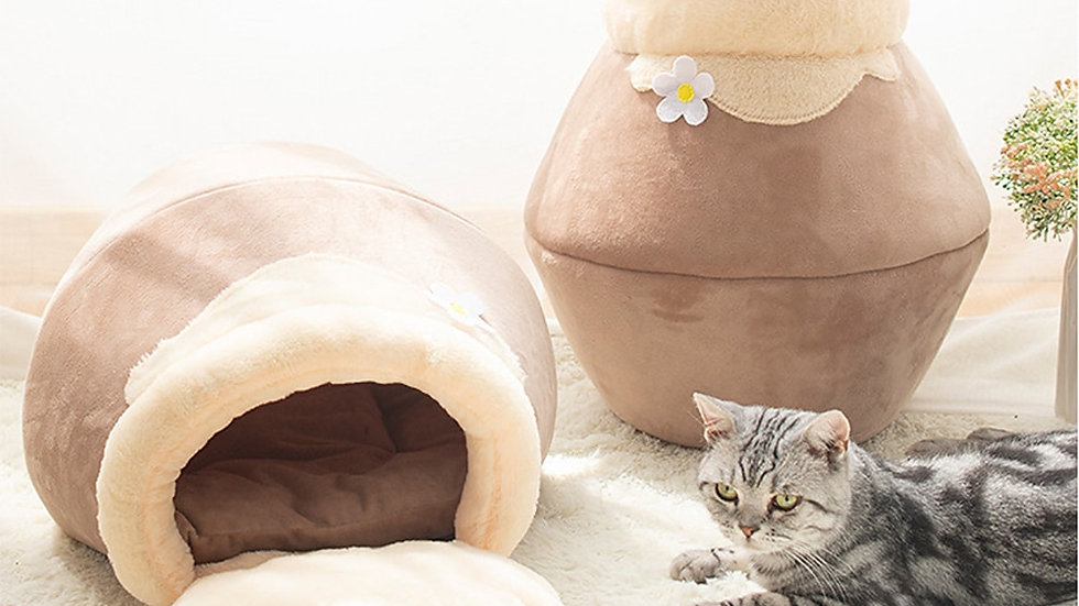 Foldable Cat Bed With Free Cat Cushion Self Warming