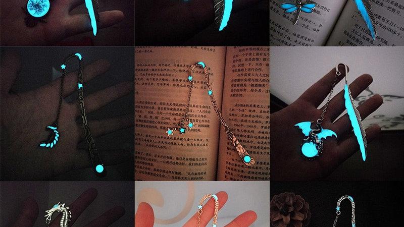 Luminous Metal Feather Bookmarks