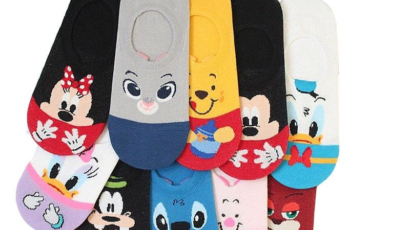 Disney Cartoon Breathable Soft Short Socks