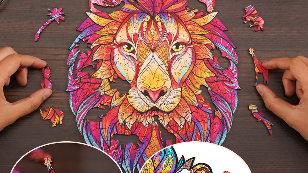 2021 New Wooden Puzzle Each Piece Is Animal Shaped